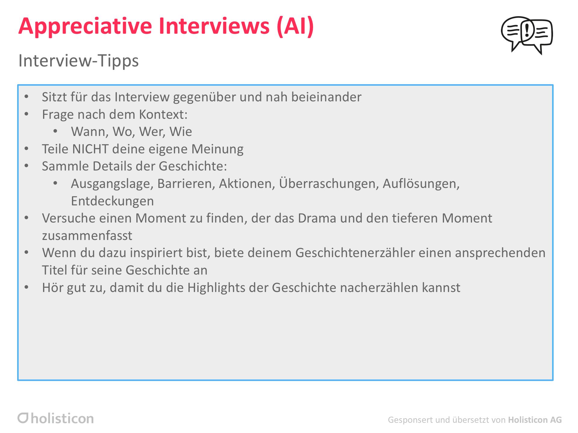 Appreciative Interviews Ai Liberating Structures
